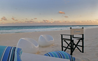 The beach at Be Tulum, luxury hotel in Mexico