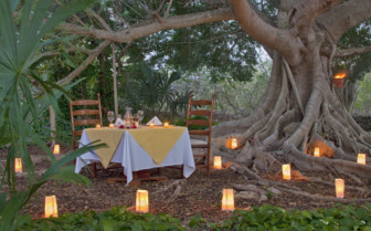 Private dining at the hotel garden