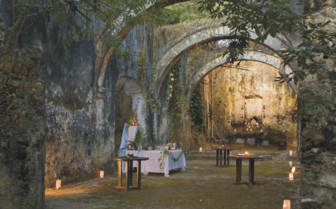 The chapel at Hacienda  Uayamon, luxury hotel in Mexico