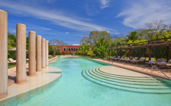 The swimming pool at Hacienda Temozon
