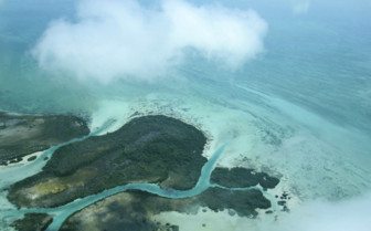 Ambergis Caye Belize Aerial