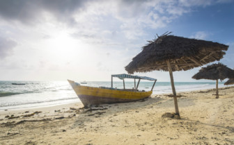 Tanzanian Coast Boat on the Sands