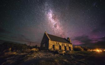 Good Shepherd Church in Lake Tekapo at Night
