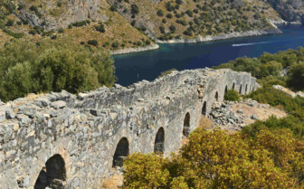 Ancient Wall on the Aegean Coast