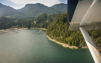 View of Vancouver Island by Seaplane