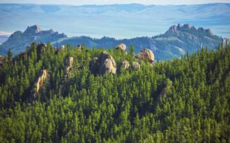 View across Mongolian Landscape