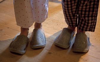 Children's slippers at White Deer San Lorenzo, Dolomites