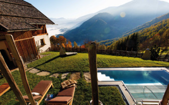 Pool view from San Lorenzo Mountain Lodge