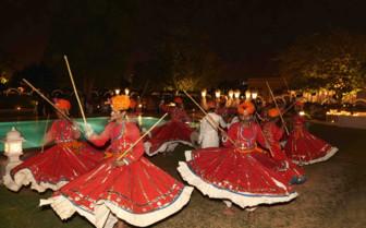 Cultural dancing in Jaipur