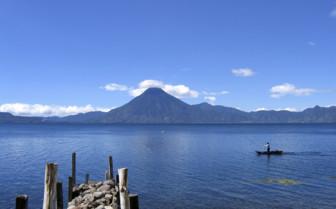 Lake Atitlan by San Pedro Volcano
