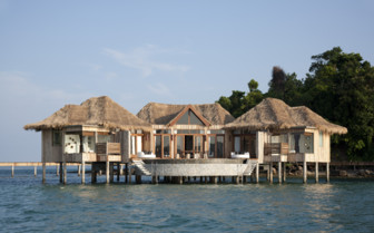 Over water villas at Song Saa