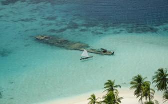 Beach Boat in Panama