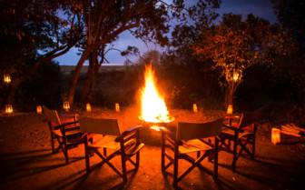 Firepit at the Mara Expedition Camp, Kenya