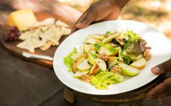Dining at the Mara Expedition Camp, Kenya