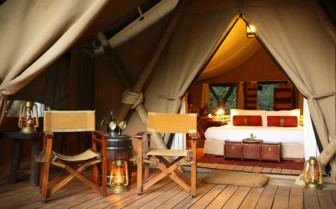 Tent Exterior at the Mara Expedition Camp, Kenya