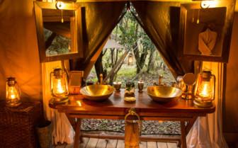 Washroom at the Mara Expedition Camp, Kenya