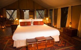 Bed and Chest at the Mara Expedition Camp, Kenya