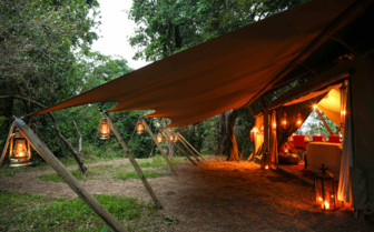 Tent Lights at the Mara Expedition Camp, Kenya