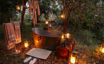 Romantic Bathtub at the Mara Expedition Camp, Kenya