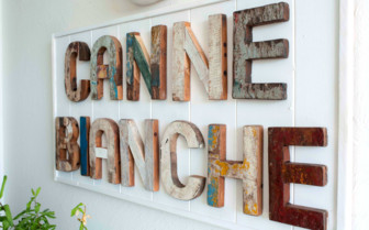 Canne Biance hotel sign