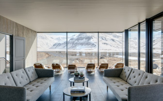 The Common Lounge at Deplar Farm, Iceland
