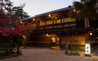 Exterior shot of Iwaso Hotel