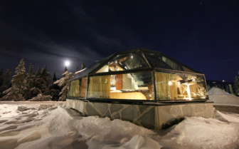 Night Sets over the Levi Igloos