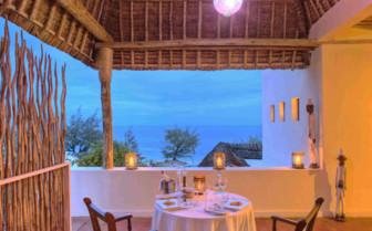 Dining with a view at Saruni Samburu