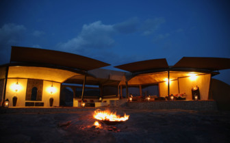 Exterior Fire Pit at Saruni Samburu