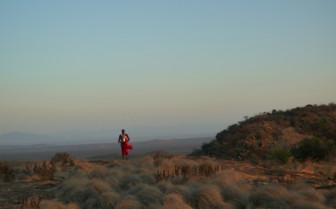 Samburu Man atop a Hill