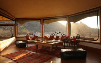 Sunlit Lounge at Saruni Samburu