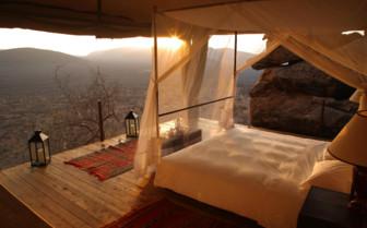Sunset View from the bedroom at Saruni Samburu