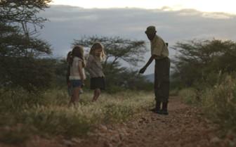 Children on a tracking adventure at Saruni Samburu