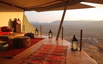 Open Lounge Area at Saruni Samburu