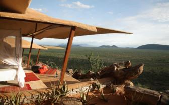 Vast expanses from the bedroom at Saruni Samburu