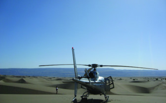 Helicopter Landing at the Enasoit