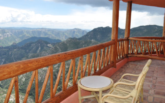 The balcony with Copper Canyon views