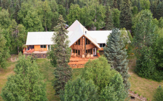 Aerial view of Winterlake Lodge