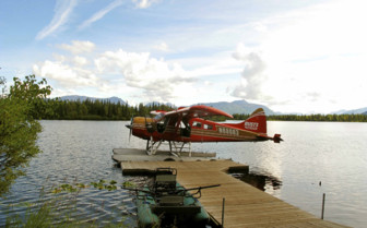 Float Plane at Winterlake Lodge