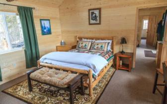 Bedroom interior at Winterlake Lodge