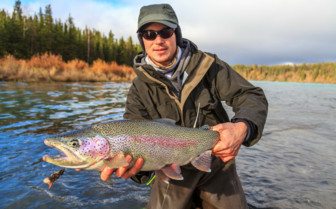 Trout fishing at Winterlake Lodge