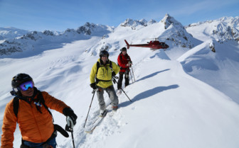 Skiing in the Tordrillo Mountains
