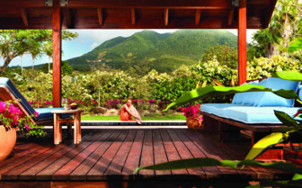 Outdoor Area at the Four Seasons Nevis