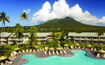 Pool view at the Four Seasons Nevis
