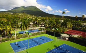 Tennis Courts at the Four Seasons Nevis