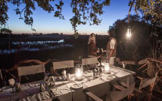 Dining at Pom Pom Camp, Botswana