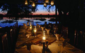 Sunset dining, Okavango Delta