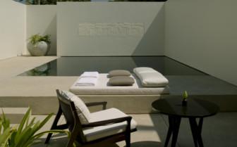 The pool suite exterior at Amansara, luxury hotel in Cambodia