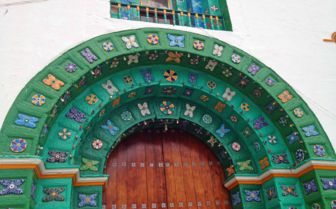 Decorative doorway, Oaxaca