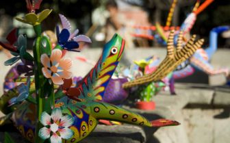 Colourful crafts, Mexico